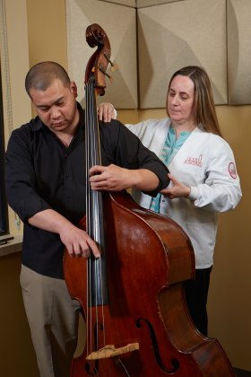 musician receives therapy